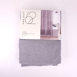 """Project 62 Gray Woven Brick Shower Curtain 72X72"""""""